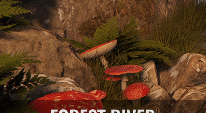 Forest River Environment with Megascans