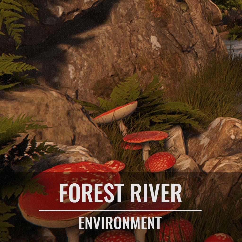 Forest River Env with Megascans