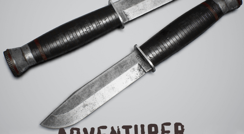 Adventurer Pack – Knife with Leather Case