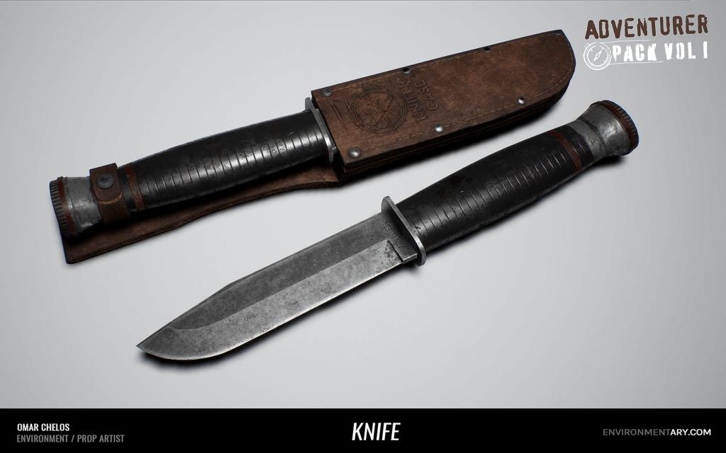 Adventurer Pack - Knife with Case 01