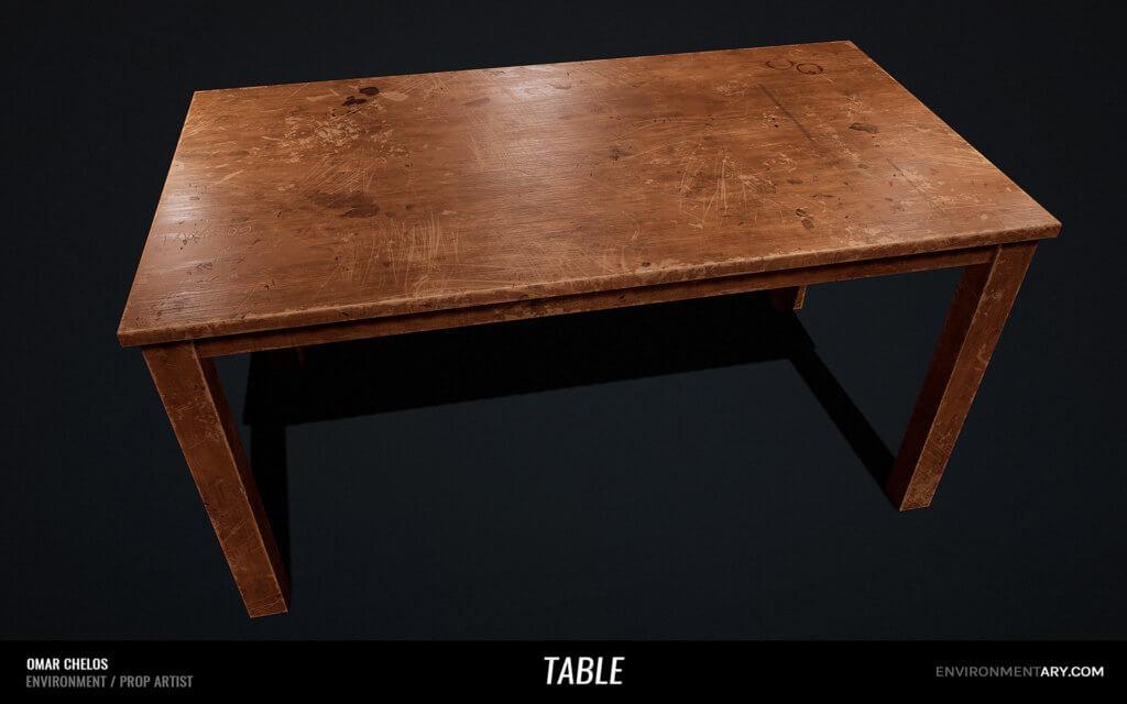Adventurer Pack - Wooden Table 01